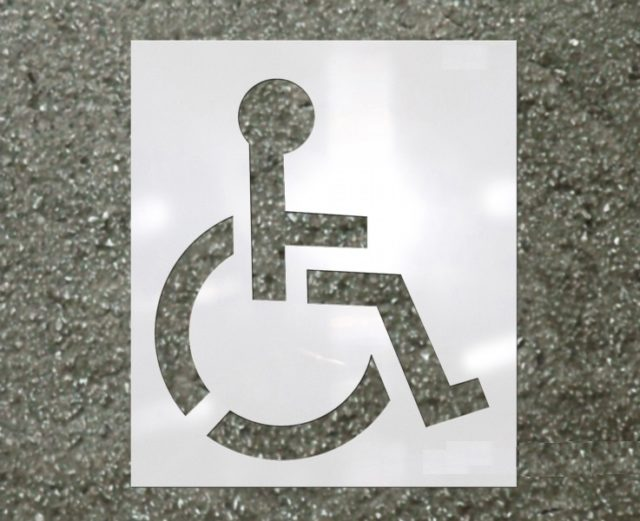 Fox Valley Paint - Heavy Duty Handicap Stencil