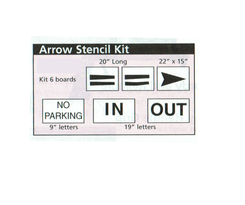 Arrow Stencil Kit