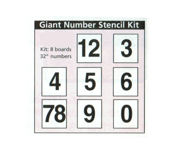 Giant Number Stencil Kit