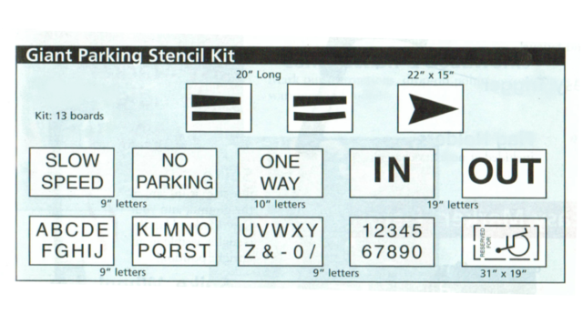 Giant Parking Stencil Kit